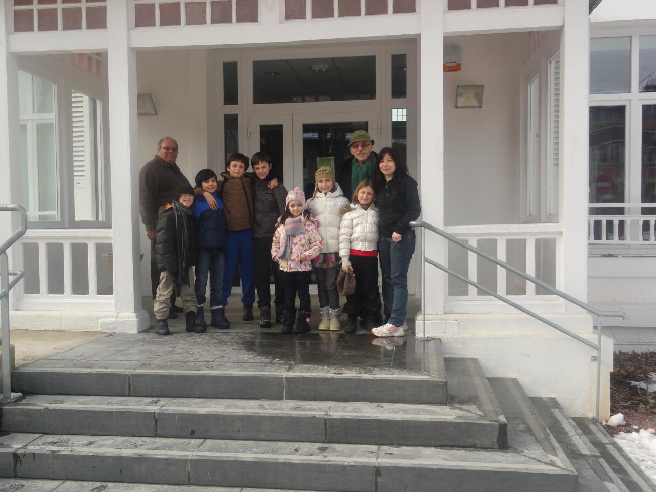 visite à la roseraie expo photo