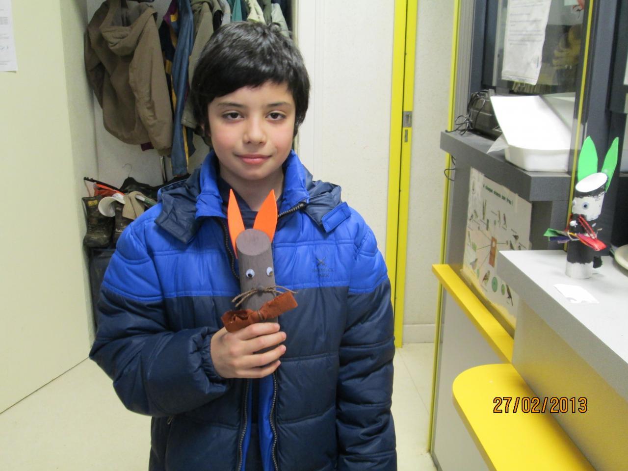Tiago le vainqueur du concours de lapin